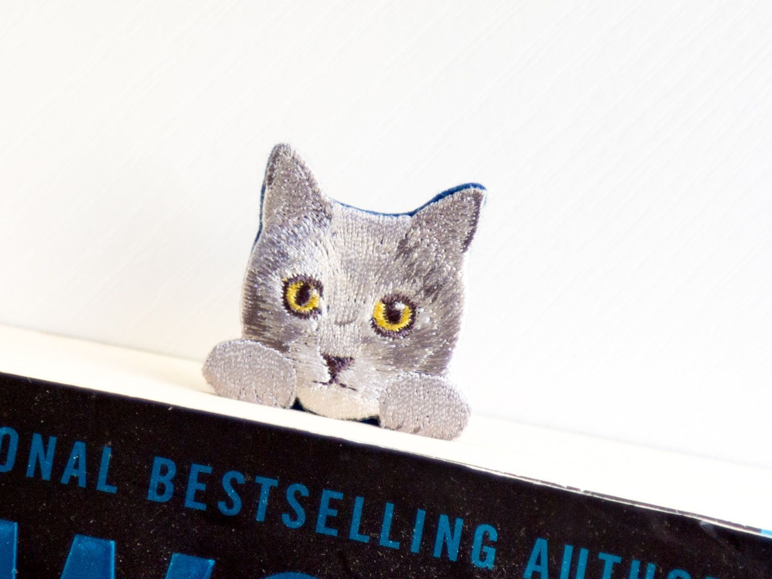 Russian Blue Cat Bookmarker Gray Cat Foreign Blue Russian Blue Maltese Etsy An Adorable Bookmark Featurin In 2020 Russian Blue Cat Russian Blue Grey Cats