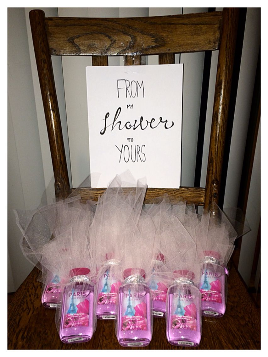 Bridal Shower Gift Favors Tulle Paris Themed Bath Body Works