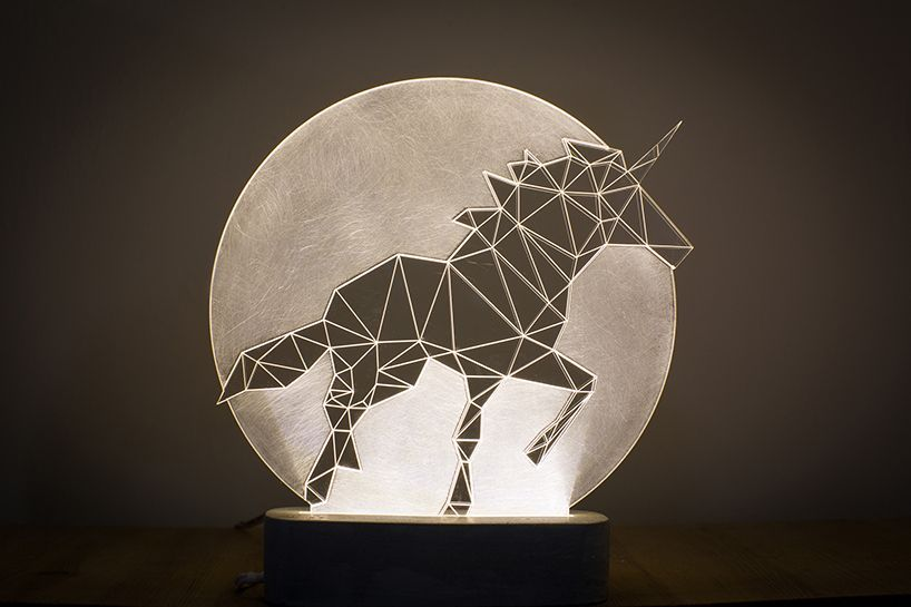 Full Moon Unicorn Lamp Bedside Unicorn Lamp Led Nightlight Concrete Lamp Animal Decorative Lamp Woodland T 3d Led Night Light Lamp Decor Unicorn Lamp