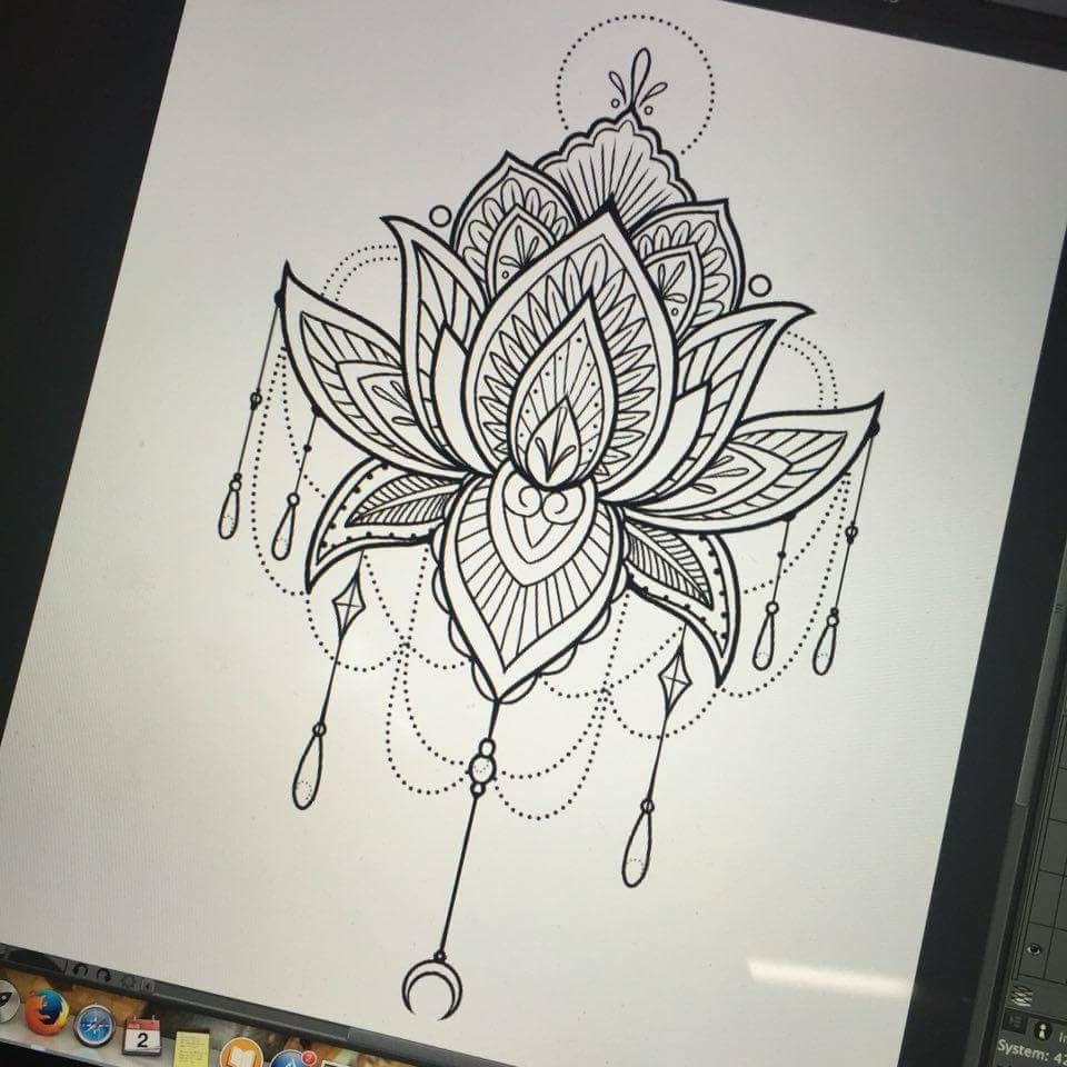 Mandala Lotus Lotus Mandala Tattoo Mandala Hand Tattoos Inspirational Tattoos