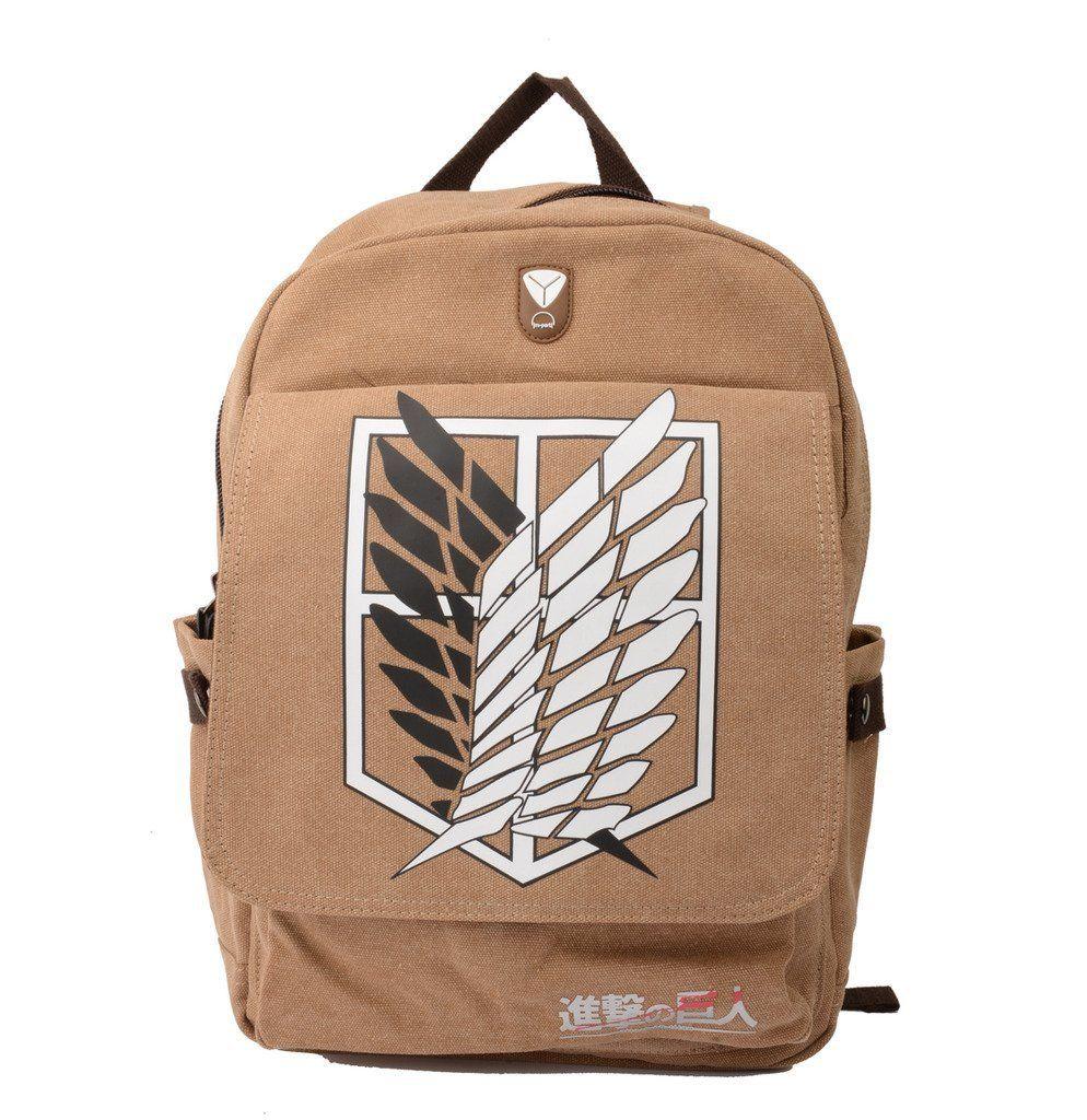 Attack on titan survey corps eren anime backpack shoulder