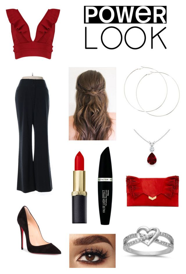 """Contest"" by lovebug4173 ❤ liked on Polyvore featuring Boohoo, White House Black Market, Christian Louboutin, Max Factor, Jimmy Choo, girlpower and powerlook"