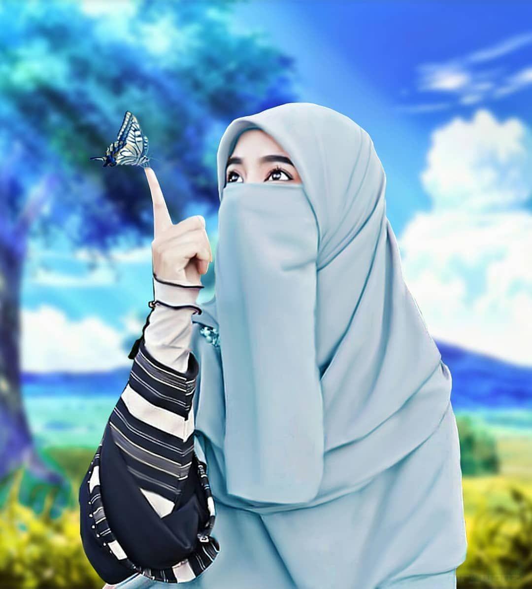 Gambar Muslimah Bercadar   Islamic girl pic, Arab girls hijab ...