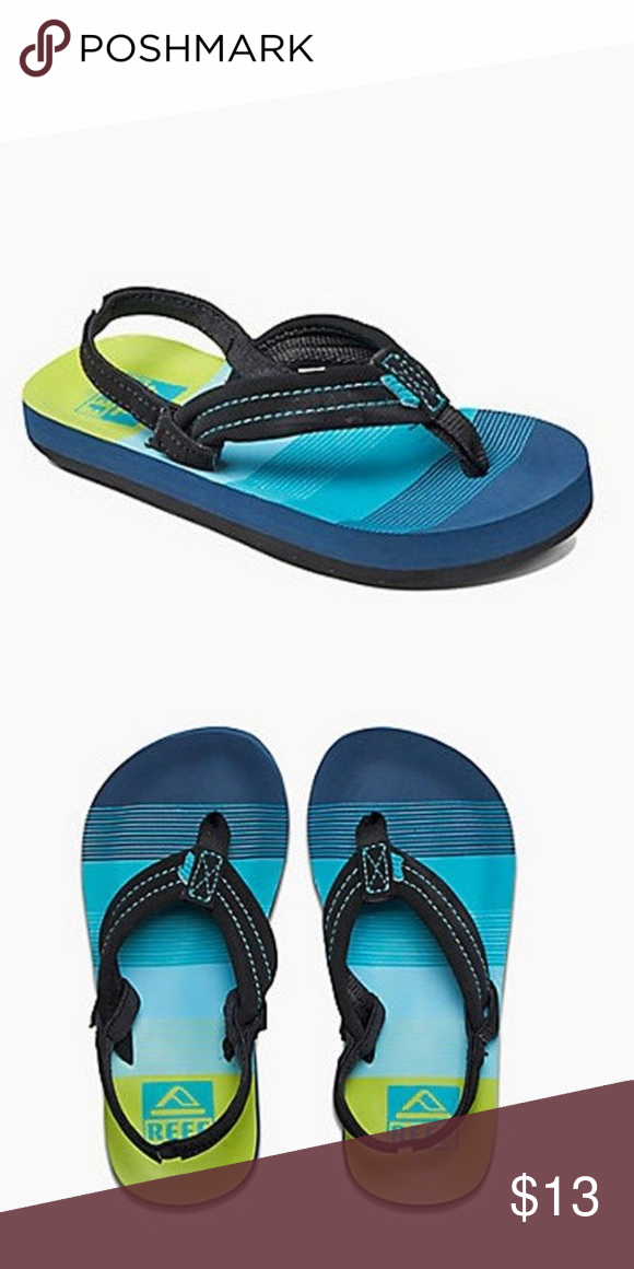 f37f9c218235 🍃REEF Ahi Toddler Boys Slip On Aqua Green Sandals REEF Ahi Boys Slip On Aqua  Green Flip Flop Sandals Size 3 4 T Size   US Toddler 3 4.