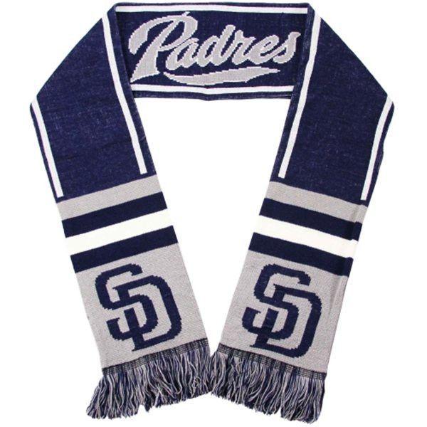San Diego Padres Wordmark Scarf - Navy Blue/Gray