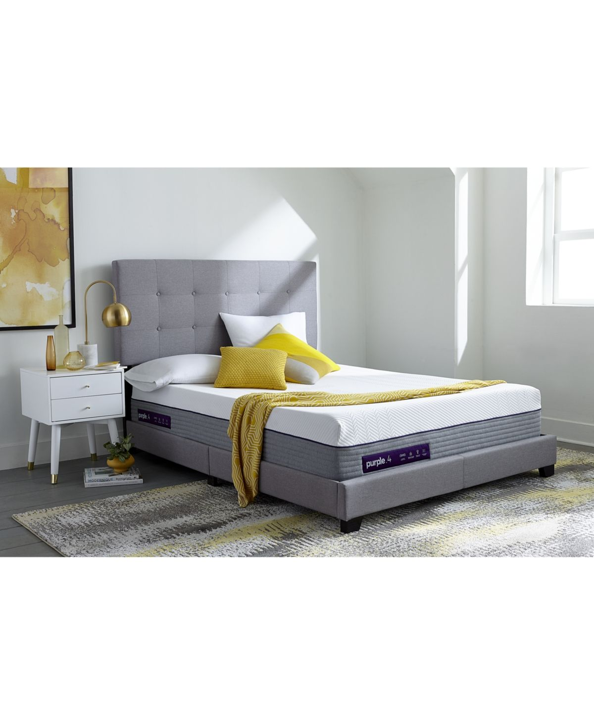 Purple 4 Hybrid Premier 13 Mattress California King Reviews Mattresses Macy S Furniture For Small Spaces California King Bedding Queen Mattress