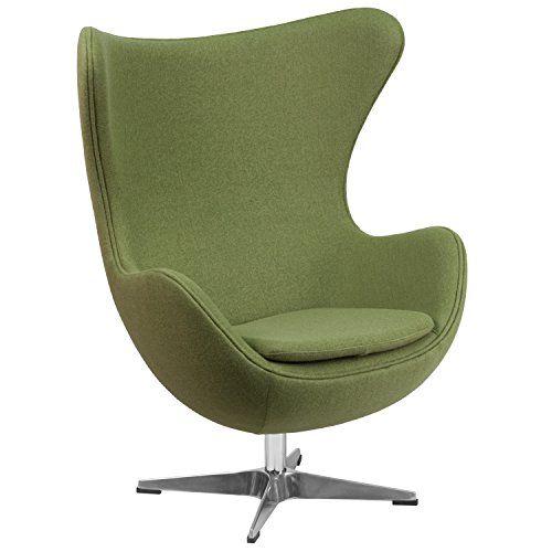 "Green Egg Chair - ""Vela"" Retro Lounge Chairs cubicles.com https://www.amazon.com/dp/B01DJOPLS4/ref=cm_sw_r_pi_dp_x_hpN0yb1P4XTEQ"