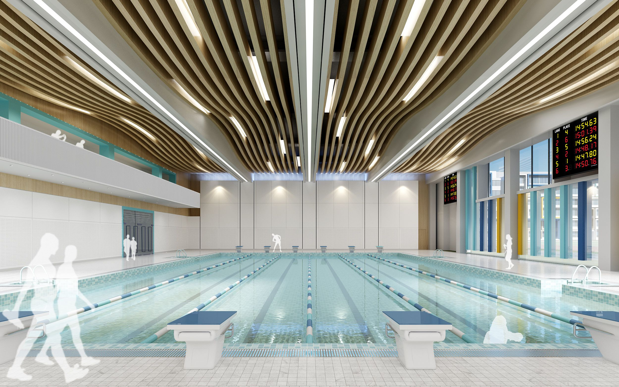 School Indoor Swimming Pool Desain