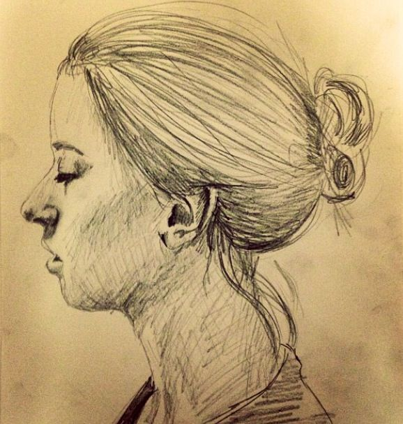 Quick pencil sketch of gabby by south african award wining artist