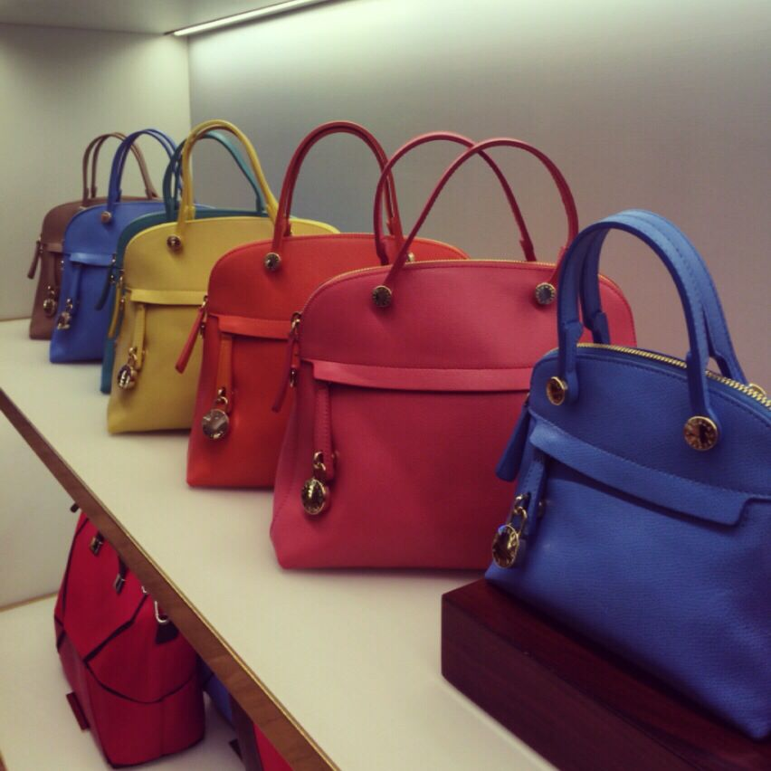 af149248c Furla Piper handbag ss14 summer happy color yellow red blue pink bags