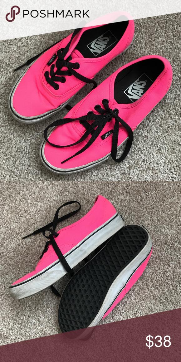 VANS hot pink sneakers black laces