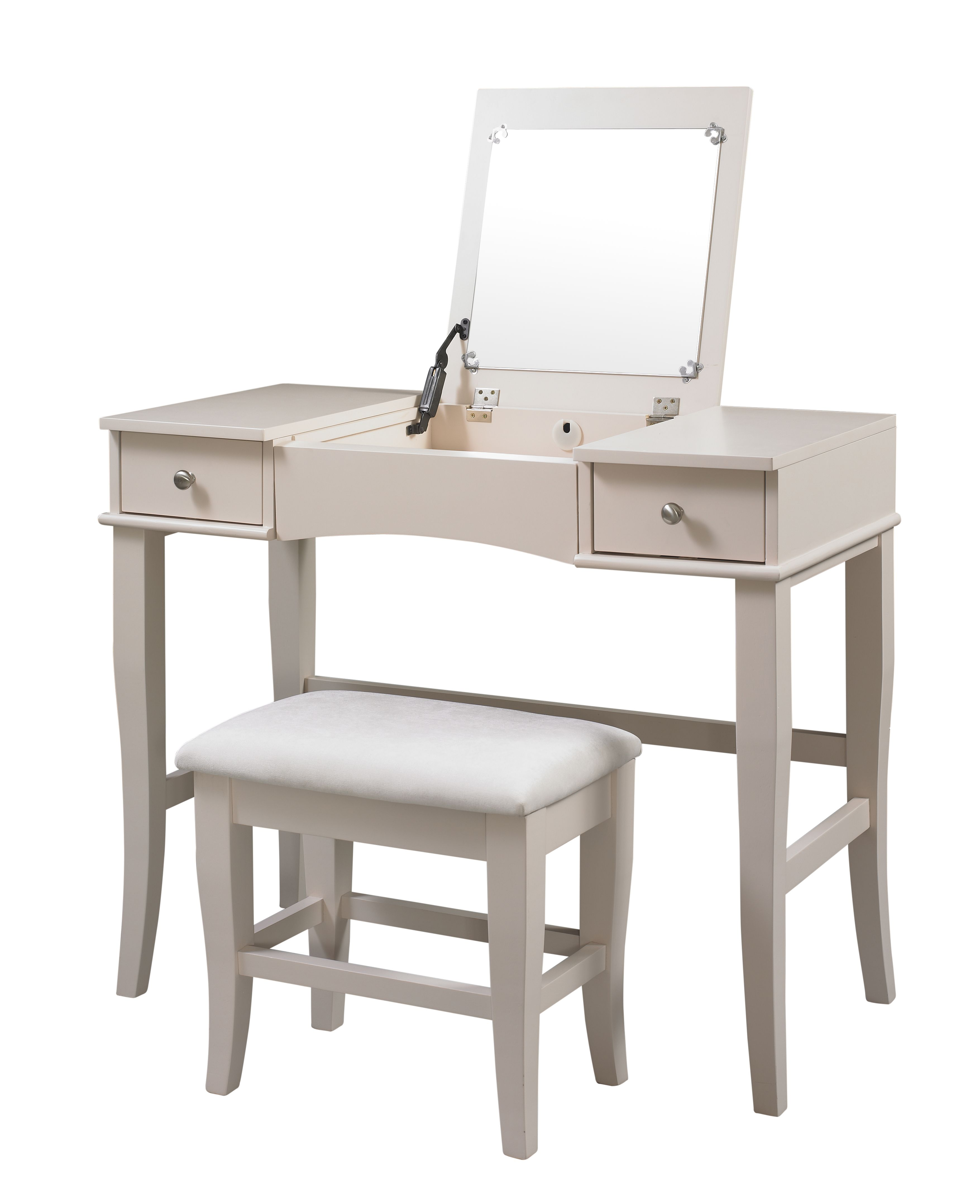 Linon Lattice Vanity Set Multiple Colors: Linon Jackson Vanity Set, Off-white