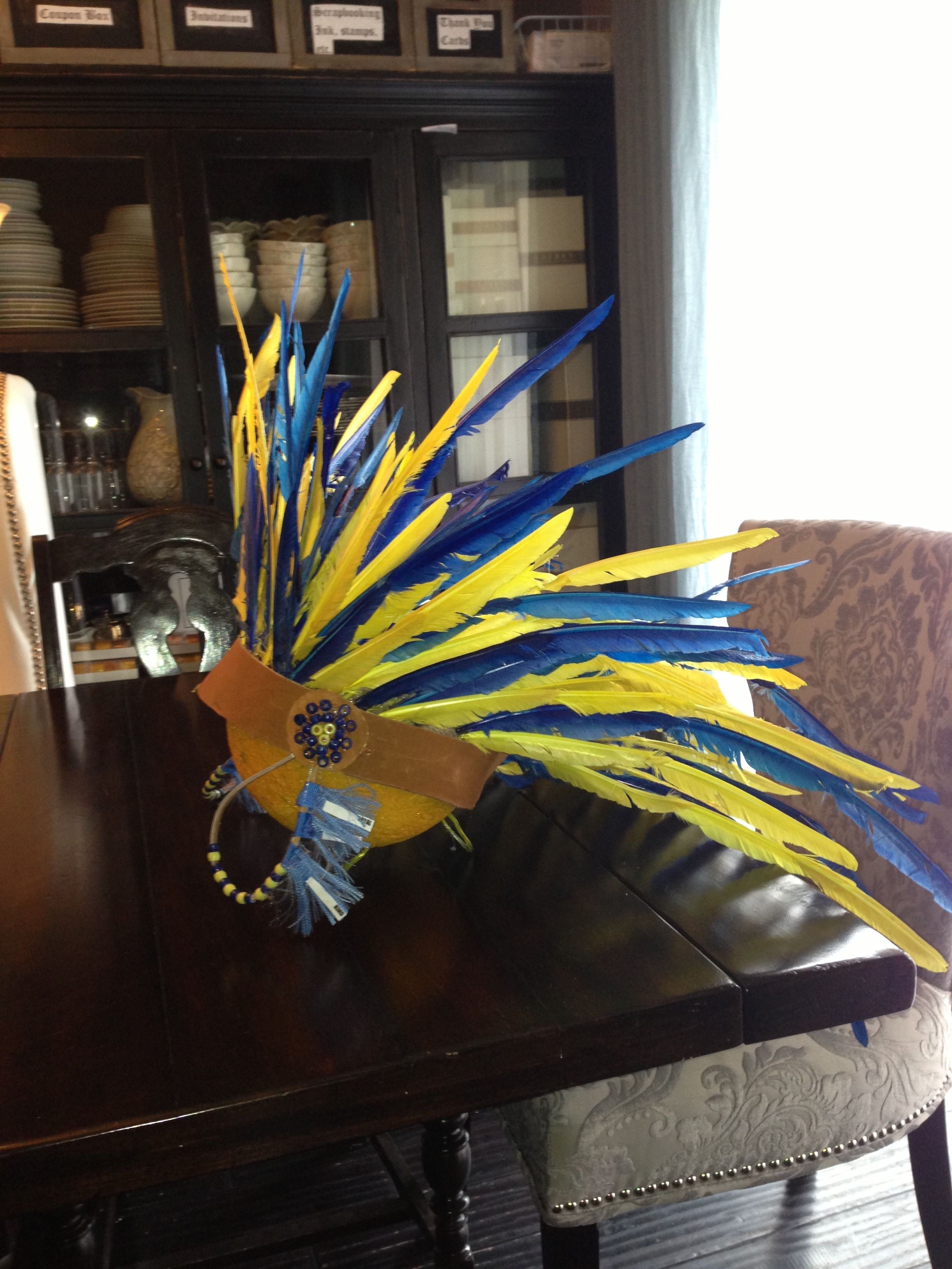 Blue and Gold Ceremony Centerpiece Native American ...