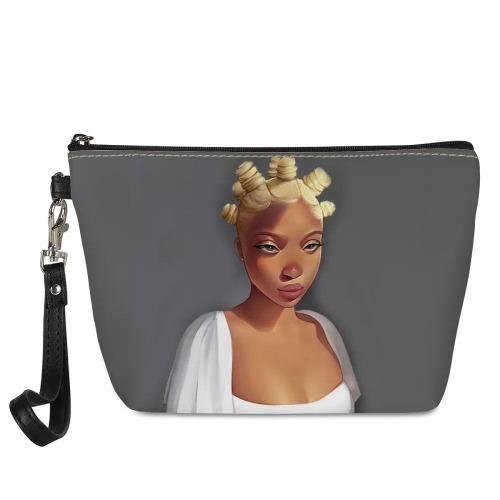 Bantu Queen – Makeup Wristlet Bag