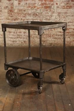 Item Ta 4592 Here Is A Vintage Bar Cart That Takes Your Breath Away The Two Tiers Add Functionality To Cast Iron Table