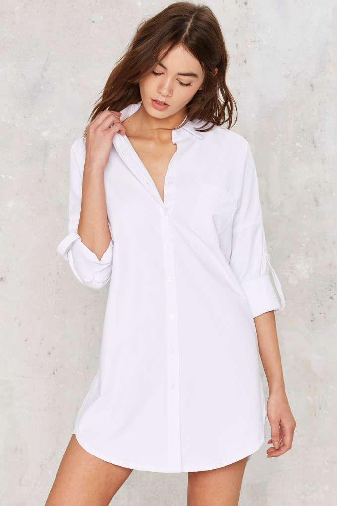 380b9a5681a Nasty Gal Risky Biz Shirt Dress - Back In Stock | Day | Basic | Button Down  | Tops | Tops