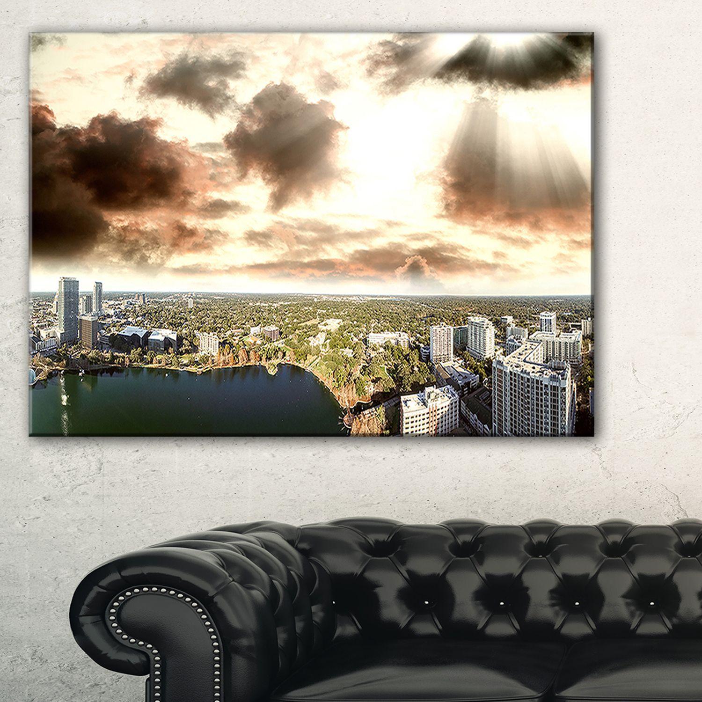 Downtown Orlando Sunset Aerial - Extra Seascape Art