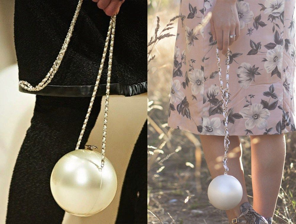 8d18c83eb8be Pearls are definitely having a moment right now, and I'm totally on the  bandwagon. I spotted this giant pearl bag on the Chanel Resort 14/15 runway,  ...