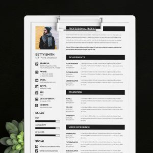 Minimal Resume Template Available In Ms Word Doc Docx Psd  Free