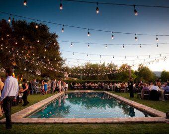 Outdoor ligthtsbulbs diy pinterest shabby chic wedding decor backyard lighting for a party splendid actually backyard party lights backyard new aloadofball Gallery