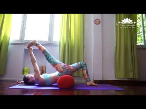 deep stretch and restorative yoga with a bolster  20