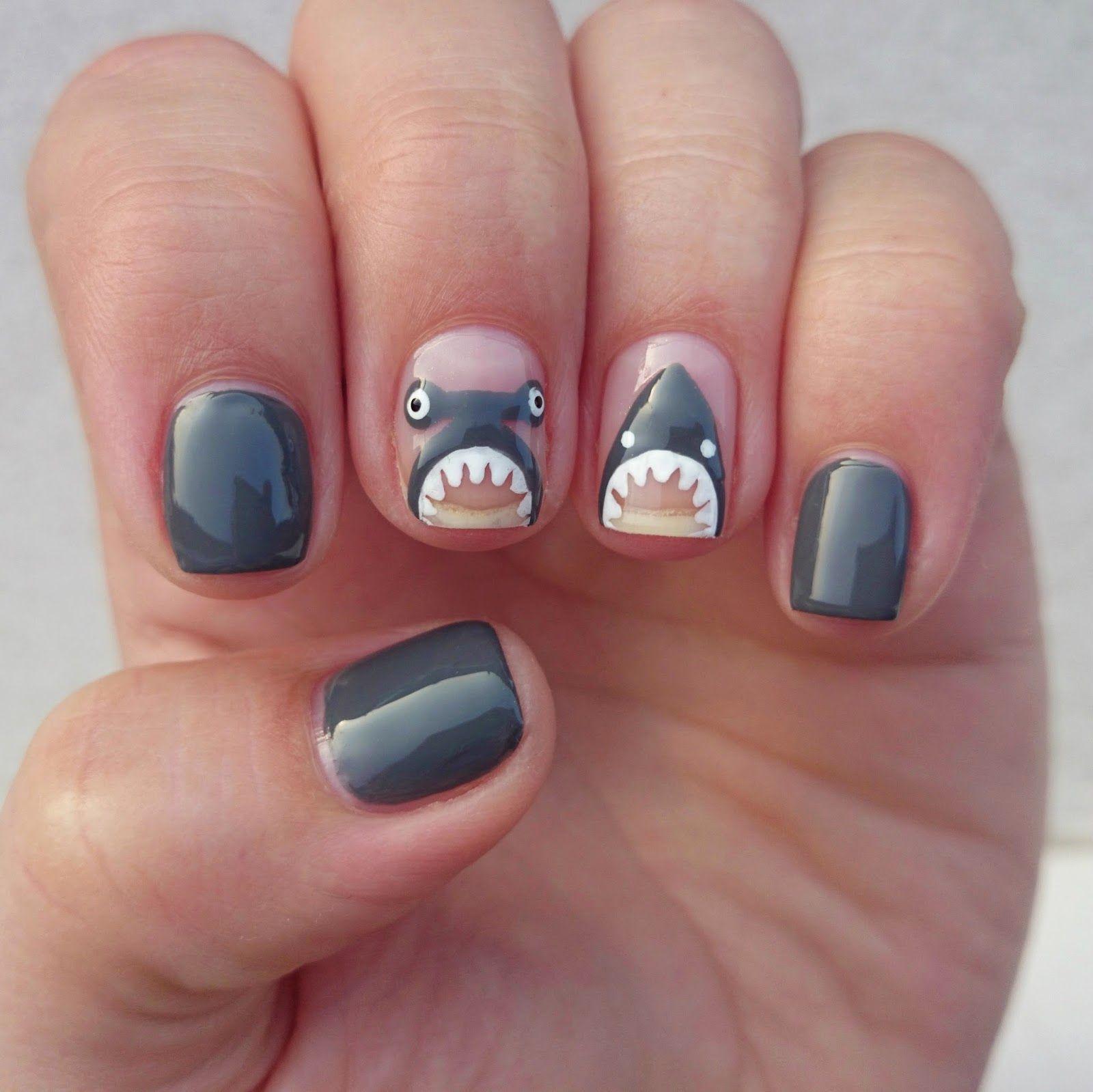 Spring Nails Summer Beach Nail Art Colors Shark