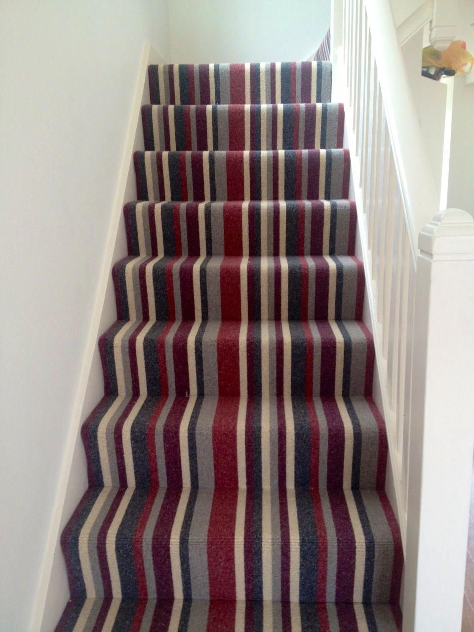 Striped Stair Carpet Google Search Stairstepcarpetrunners