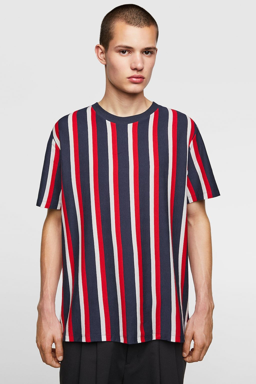 846cecf1 Image 2 of T-SHIRT WITH VERTICAL STRIPES from Zara | Apparel ...