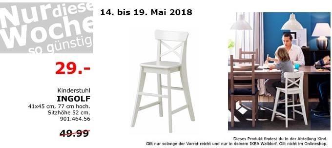 IKEA INGOLF Kinderstuhl Weiss
