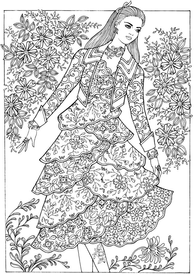 Creative Haven Fantasy Fashions Coloring Book Dover Publications Fashion Coloring Book Dover Coloring Pages Coloring Books