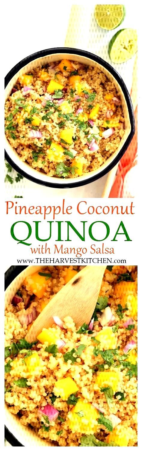 Pineapple Coconut Quinoa - Enjoy this Pineapple Coconut Quinoa alone or as a side dish to grilled
