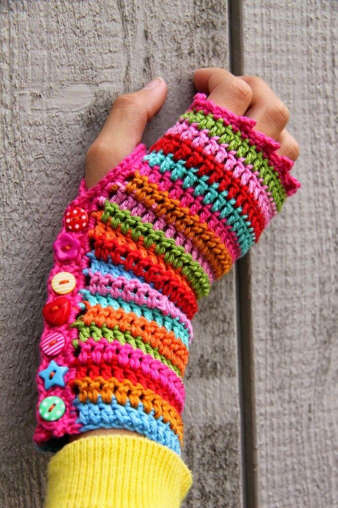 Diy Fingerless Crochet Gloves Crochet Pinterest Crochet Gloves