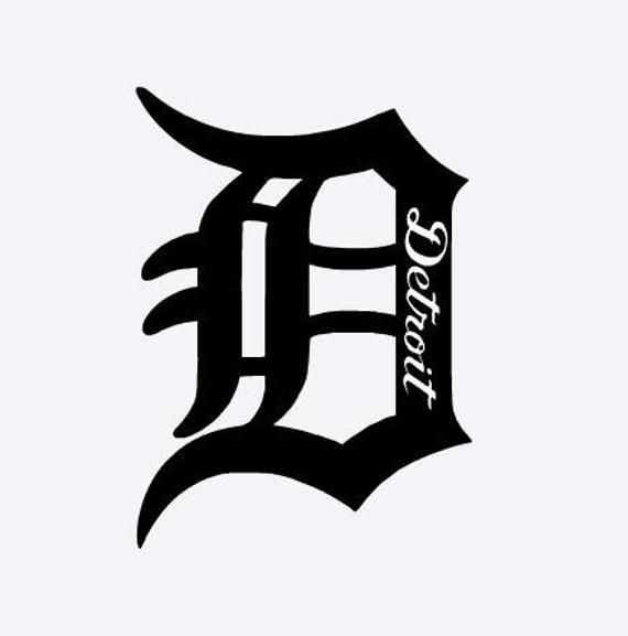 Detroit Punisher Skull Vinyl Decal Sticker Car Truck Motor City Logo Tigers