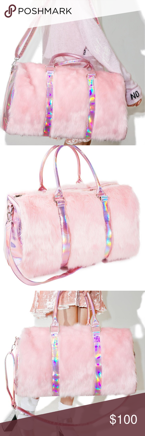 1a987a57ea 💎SugarThrillz LUXURIOUS Fluffy Duffle Bag This Sugar Thrillz Shagadelic  Weekender is all set for a shaggin  good time! This super pretty weekender  bag ...