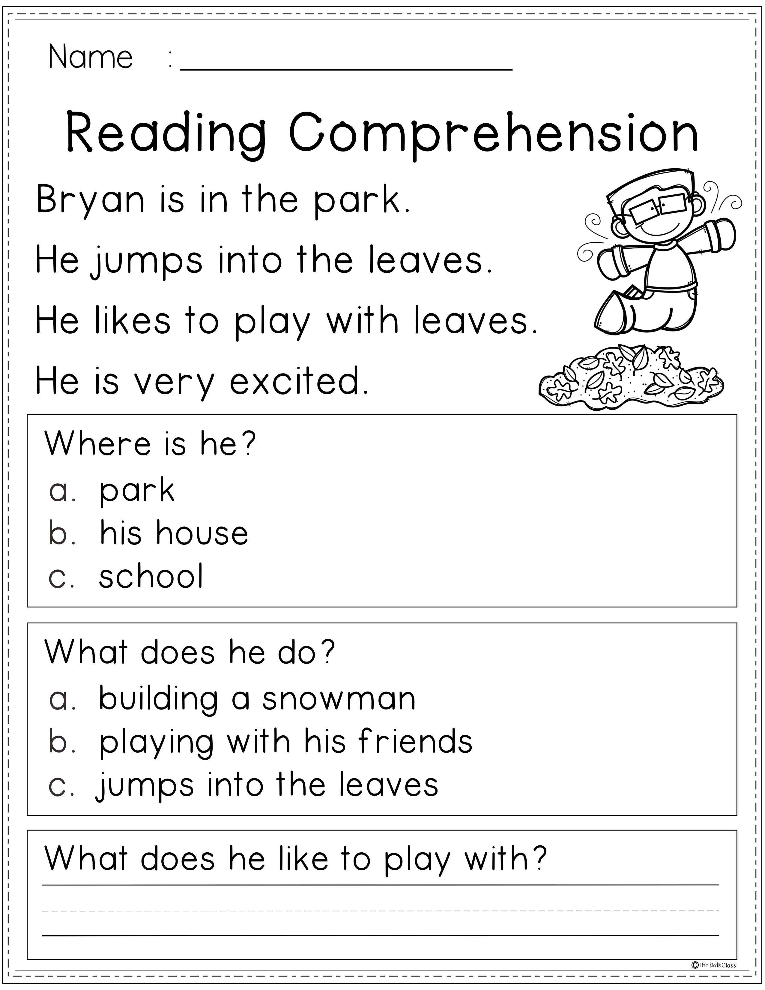 Free Reading Comprehension In