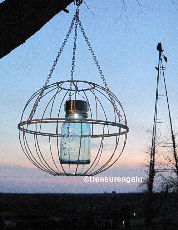 Make Your Own Solar Light outdoors | Mason Jar Garden Art Solar ...