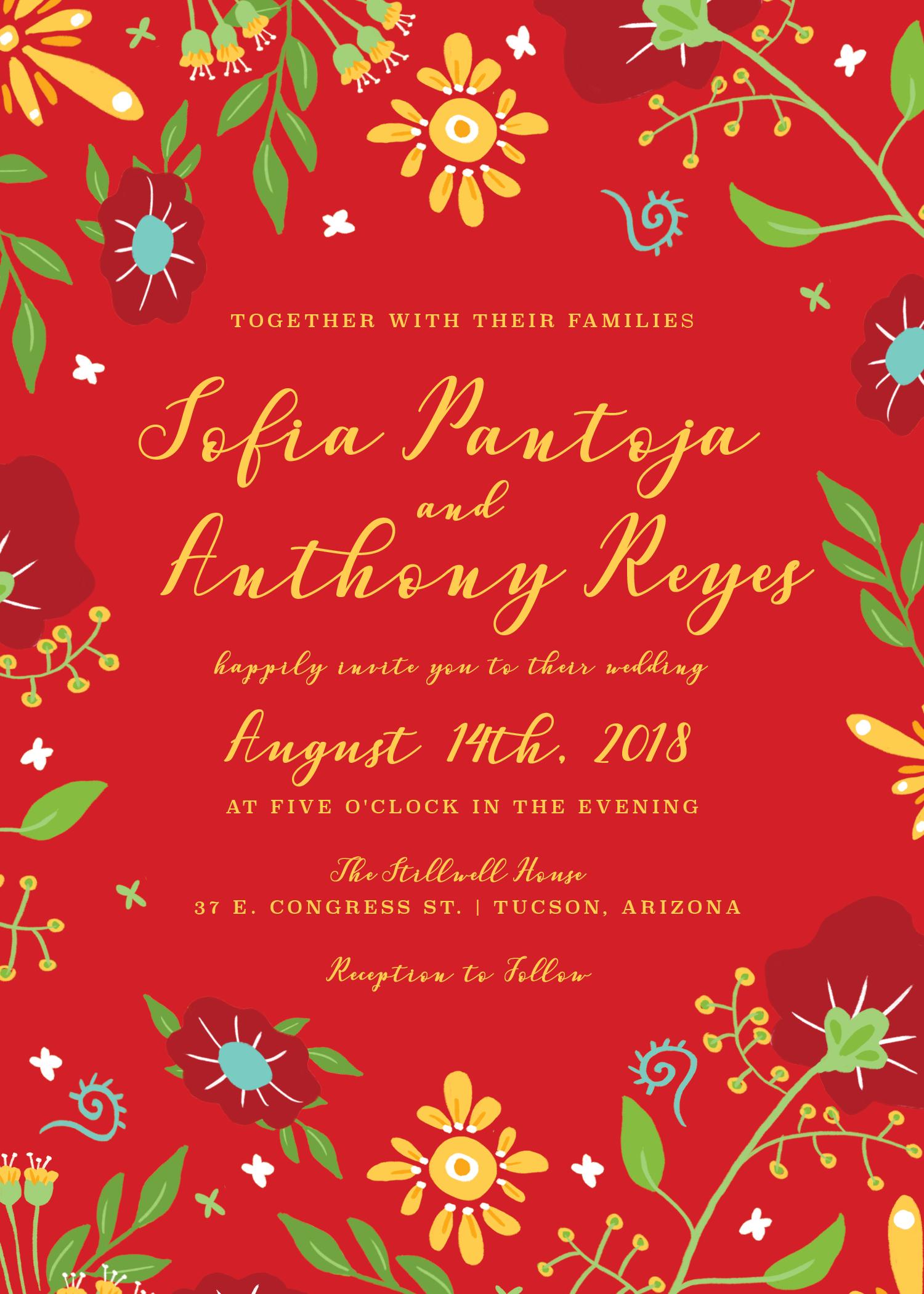 southwestern wedding invitation, southwest wedding invitation ...