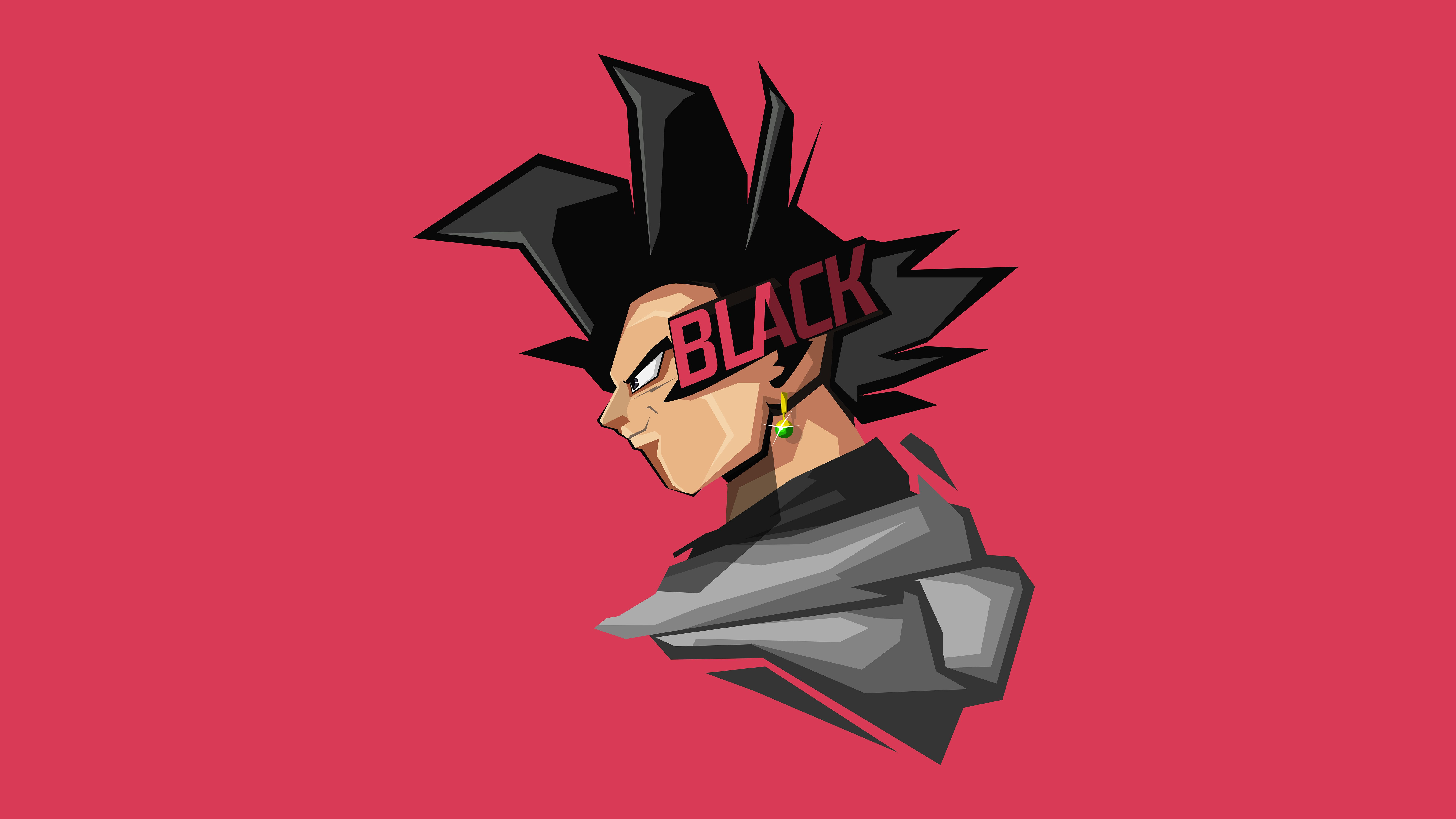 Goku Black Minimal Artwork 4k 8k Anime Wallpaper Goku Black Hd Anime Wallpapers
