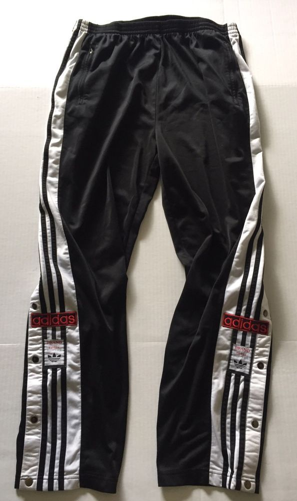 50575110442254 Vintage Adidas Brand with 3 Stripes Track Warm Up Tearaway Basketball Pants  XL #adidas #Pants