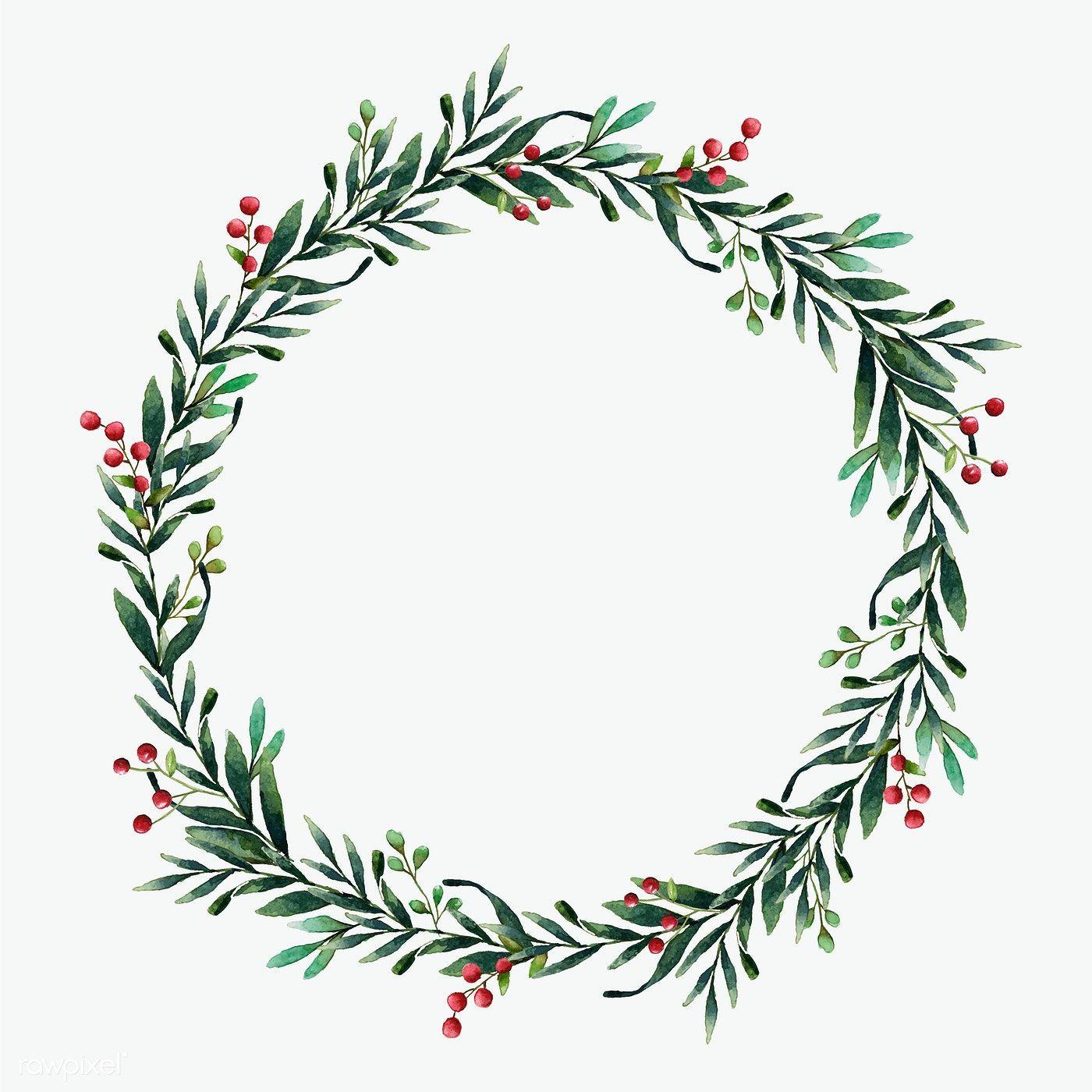 Christmas Wreath Christmas Wreath Illustration Christmas Wreaths Ribbon Wreath Christmas