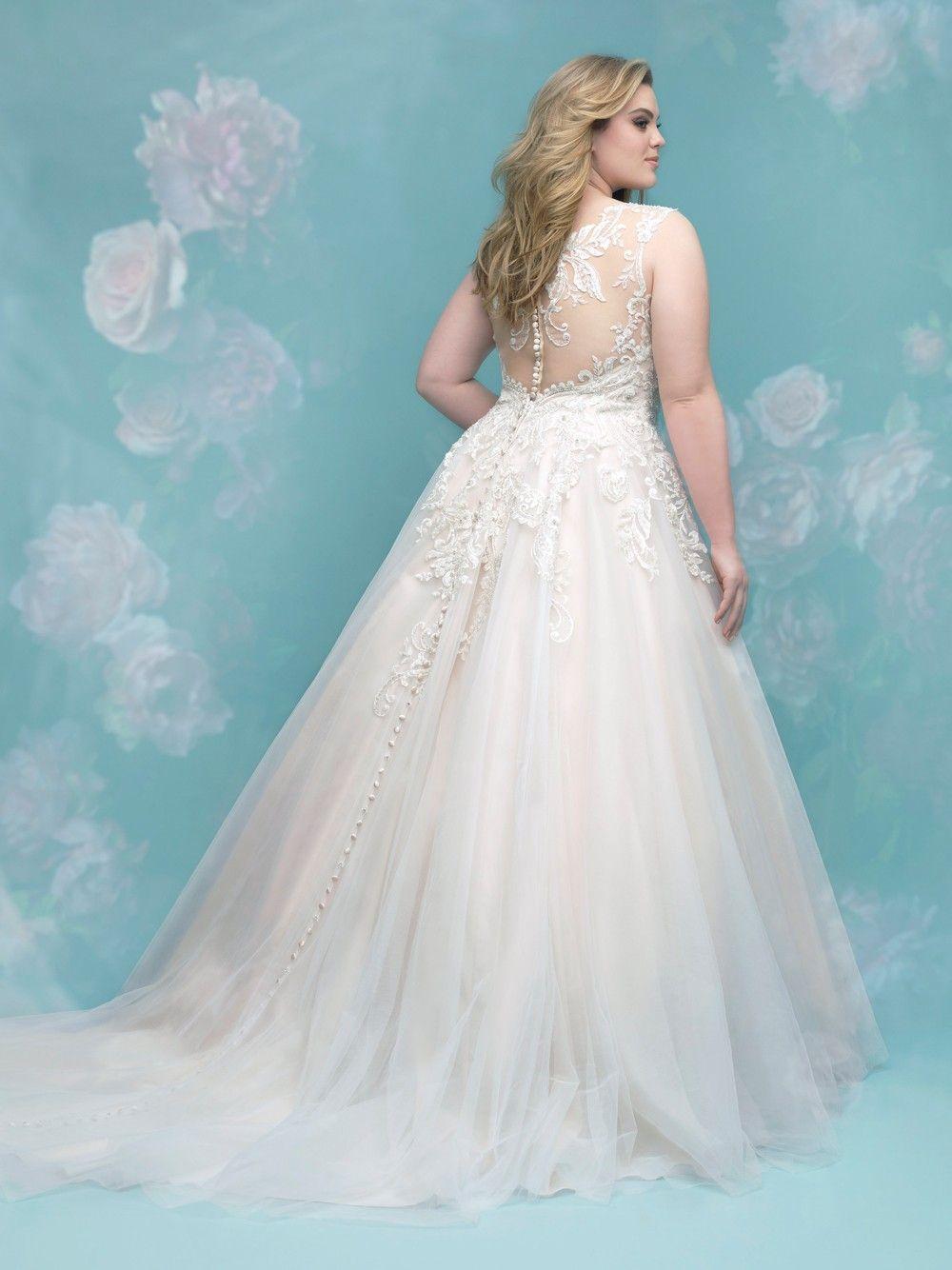 d22d0ade00b06 Allure Bridals W401 Wedding Dress.  weddingdresses  wedding  bride   allurebridals  allure  plussize  weddingdress