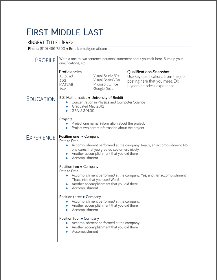 Free Resume Templates For College Students in 2020
