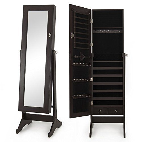 Our mirrored jewelry cabinet which is equipped with a big mirror