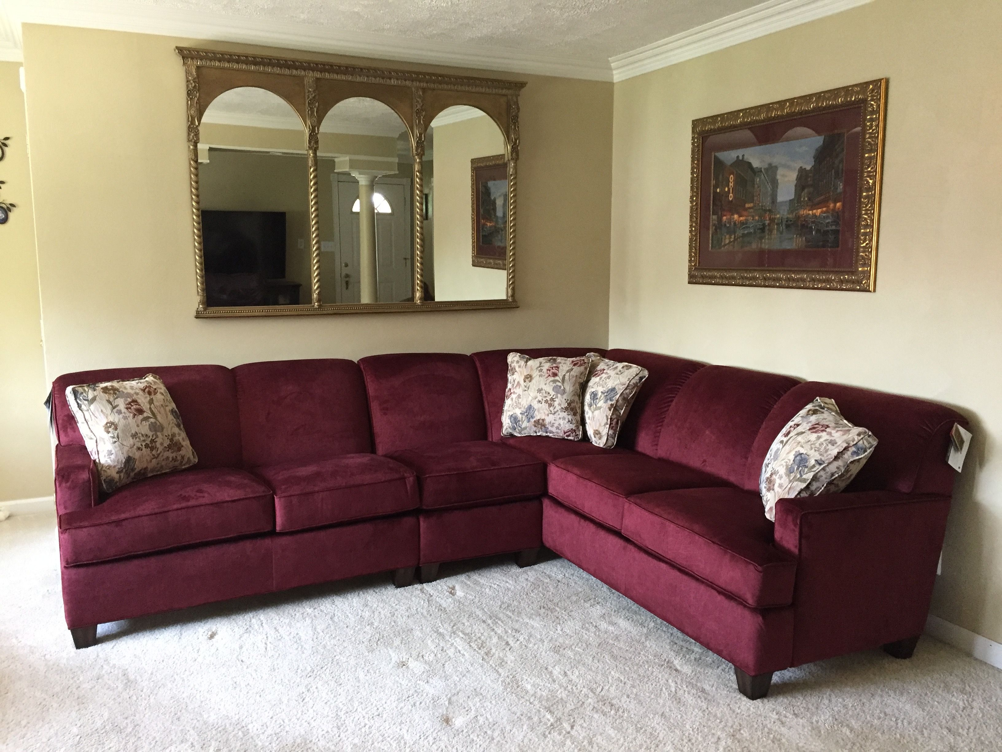 Amazing Flexsteel Sofa Sectional Vermillion Fabric Color Red Wine Download Free Architecture Designs Momecebritishbridgeorg