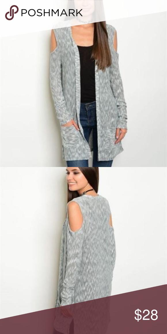 d9b033acca84c7 Oli  amp  Vivi Cold Shoulder Cardigan Sweater Pockets Oli  amp  Vivi  Boutique Fashion Boho