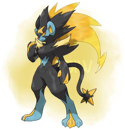 Fanmade Mega Luxray | Pokemon | Pinterest | Pokémon, Ps ...