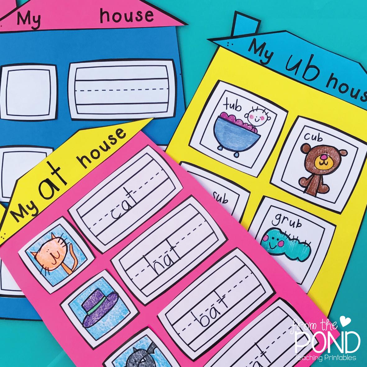 Word Family Houses Word Families Phonics Kindergarten Early Years Classroom