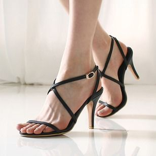 Sandalias de las mujeres del dedo del pie del pío de zapatillas abiertas  del talón de