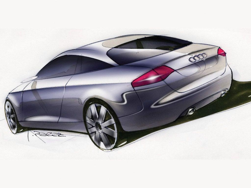 2003 Audi Nuvolari Quattro Concept Rear Angle Drawing 1024x768 Wallpaper Audi Audi Cars Car