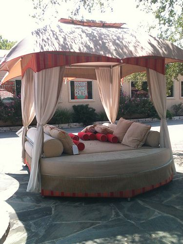 Outdoor Day Bed (With images) | Outdoor daybed, Outdoor ... on Living Spaces Outdoor Daybed id=59660